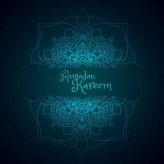 Felicitación de ramadán con patrón de mandala