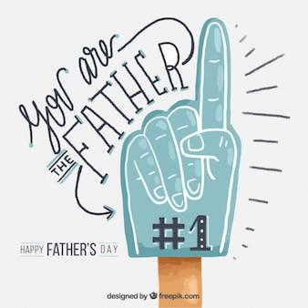 Felicitación del día del padre de mano pintada a mano