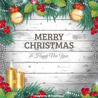 Felicitación navideña plateada