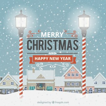 Felicitaciones de feliz navidad y próspero año nuevo