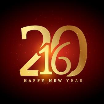 Felilcitación dorada de nuevo año 2016