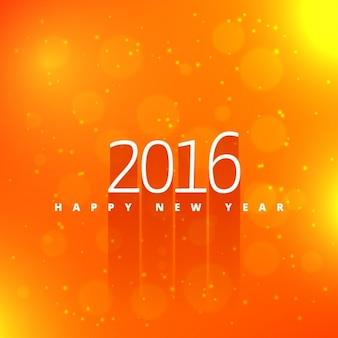 Feliz año nuevo en fondo de color naranja