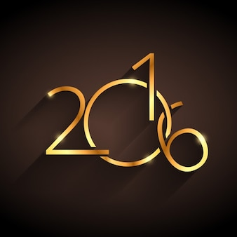 Feliz año nuevo 2016 dorado
