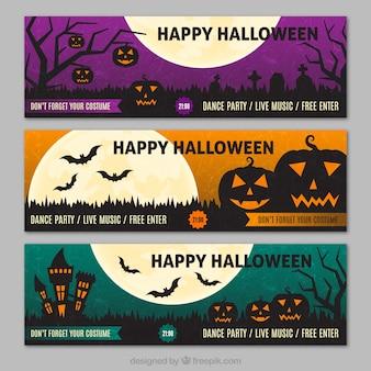 feliz fiesta de halloween banners