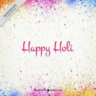 Feliz Holi de salpicaduras de colores