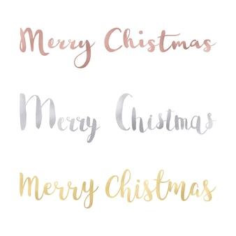 Feliz navidad con diseño multicolor
