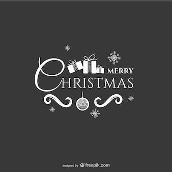 Feliz Navidad saludo estacional