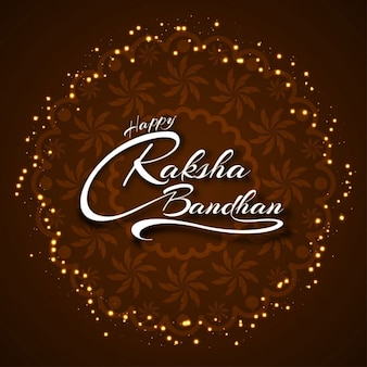 Feliz raksha bandhan diseño elegante fondo