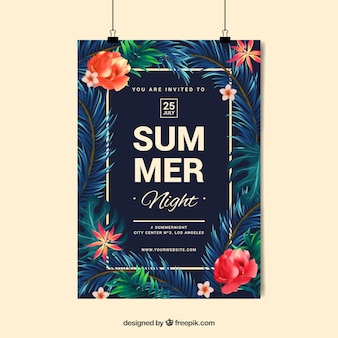 Fiesta de verano con diseño de noche