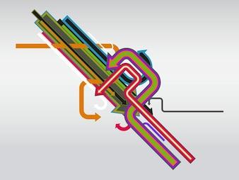 Flecha colorida composición de vectores