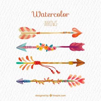 Flechas coloridas de acuarela