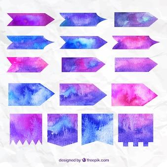 Flechas de acuarela en estilo abstracto