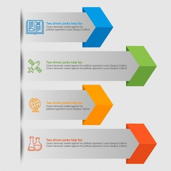 Flechas infográficas de colores