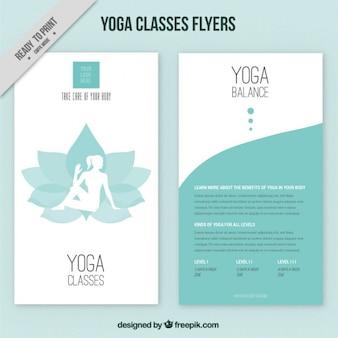 Flor con la silueta de la mujer y folletos de yoga abstractos
