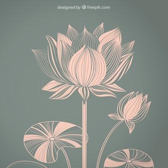Flor de loto abstracta