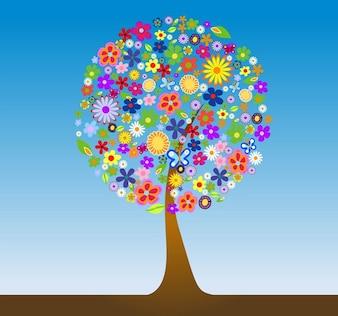 Flor del árbol del vector