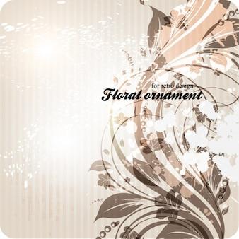Flor editable plantilla adornado raya