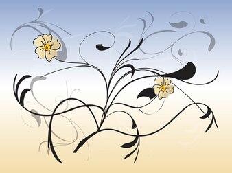 Flor natural de aguas vector composición