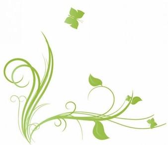 floral, con la ilustración de la mariposa elemento de diseño vectorial