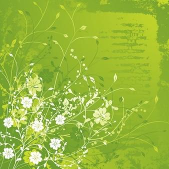 floral ilustración vectorial verde