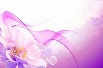 flores de color rosa de fondo de arte vectorial
