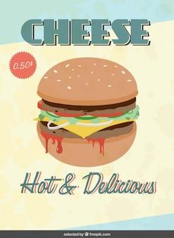 Flyer con el precio de la hamburguesa