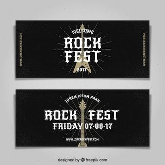 Flyer de festival de rock