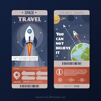 Flyer de viaje espacial
