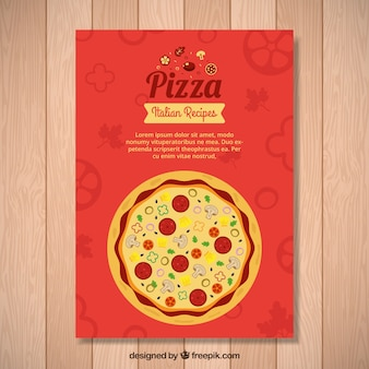 Flyer elegante de pizza italiana
