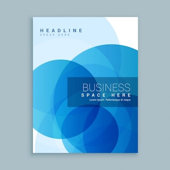 Folleto abstracto de negocios con círculos azules