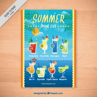 Folleto de bebidas tropicales