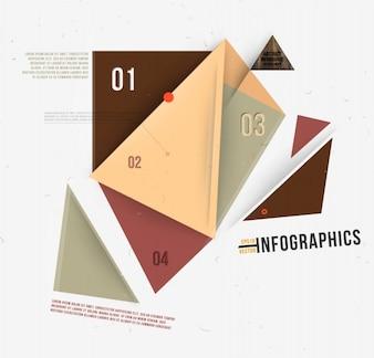 Folleto de diseño en blanco simple triángulo