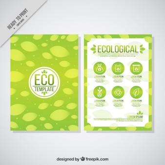 Folleto de empresa ecológica