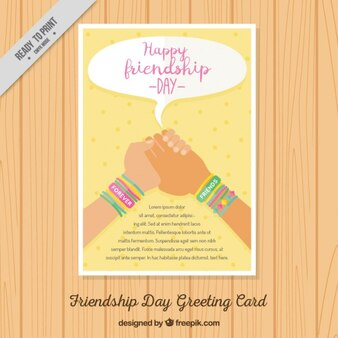 Folleto de feliz día de la amistad