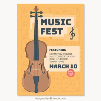 Folleto de festival de música clásica
