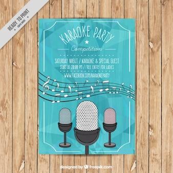 Folleto de fiesta de karaoke