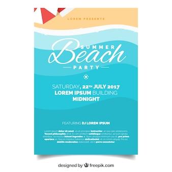 Folleto de fiesta en la playa