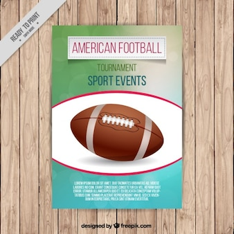 Folleto de fútbol americano