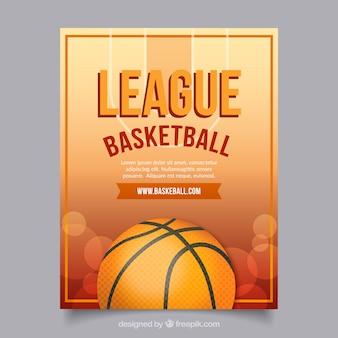 Folleto de liga de baloncesto