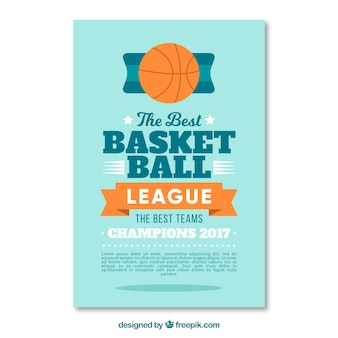 Folleto de liga de baloncesto