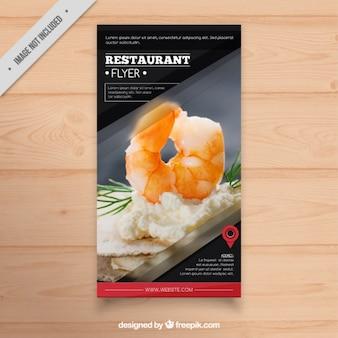 Folleto de menú de restaurante
