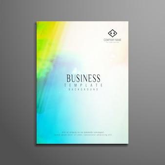 Folleto de negocios abstracto colorido de acuarela