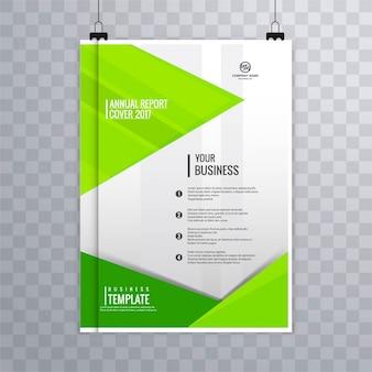 Folleto de negocios geométrico verde