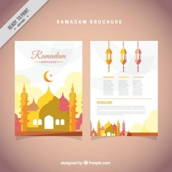 Folleto de ramadán amarillo