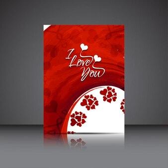 Folleto de San Valentín de te quiero