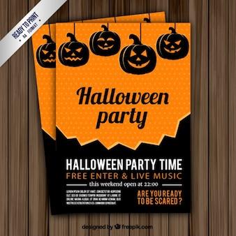 Folleto de tiempo de fiesta halloween