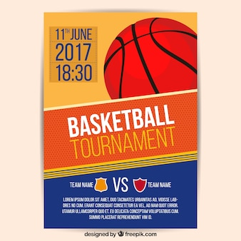 Folleto de torneo de baloncesto 2017