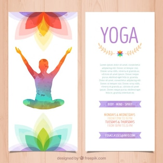 Folleto de yoga colorido
