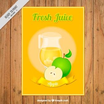 Folleto de zumo de manzana