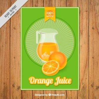 Folleto de zumo de naranja